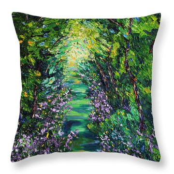 Throw Pillow featuring the painting Surrender by Meaghan Troup