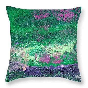 Surrounded By The Garden Throw Pillow by Donna Blackhall