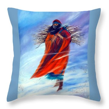 Surviving Another Day Throw Pillow by Jackie Carpenter