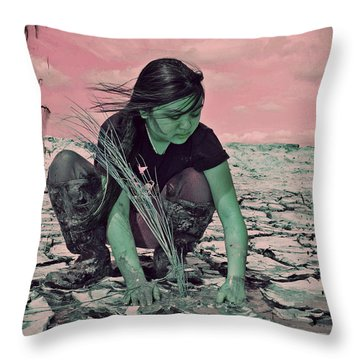 Surviving The Fallout Throw Pillow by Absinthe Art By Michelle LeAnn Scott