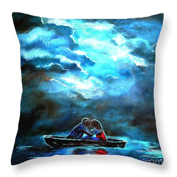 Surviving The Storm Throw Pillow by Leslie Allen