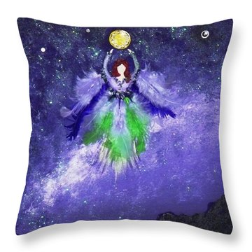 Throw Pillow featuring the painting Survivor by Alys Caviness-Gober