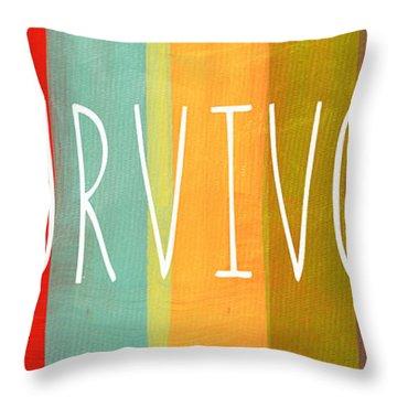 Survivor Throw Pillow by Linda Woods