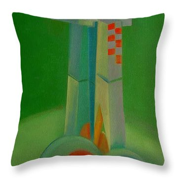 Throw Pillow featuring the painting Survivors by Charles Stuart