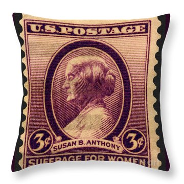 Susan B. Anthony Commemorative Postage Stamp Throw Pillow