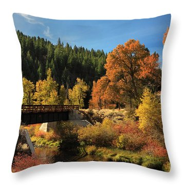 Susan River Bridge On The Bizz 2 Throw Pillow