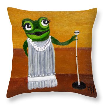 Susanna In Song Throw Pillow