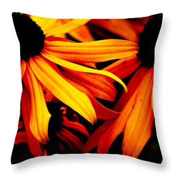 Susans On Fire Throw Pillow