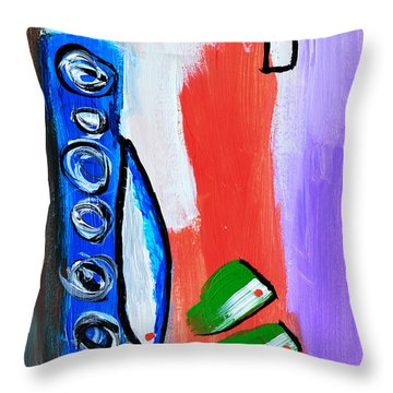 Sushi Dinner Throw Pillow by Donna Blackhall