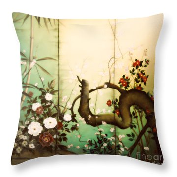 Sunshine In The Garden Throw Pillow
