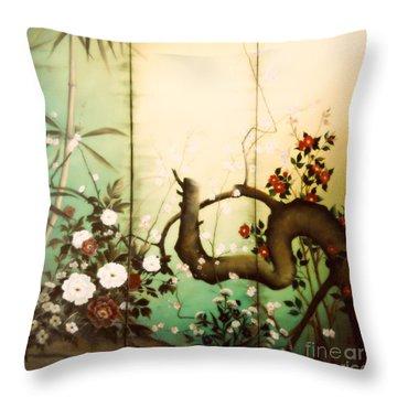 Sunshine In The Garden Throw Pillow