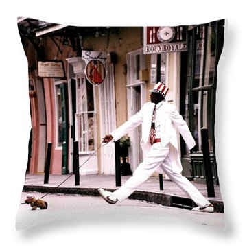 New Orleans Suspended Animation Of A Mime Throw Pillow