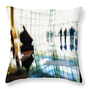 Throw Pillow featuring the photograph Suspended In Light by Alex Lapidus