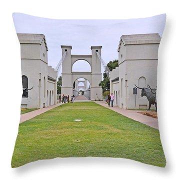 Suspension Bridge Waco Tx Throw Pillow by Christine Till