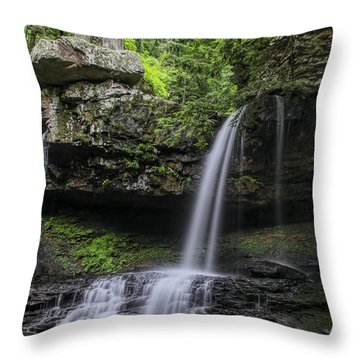 Suttons Gulch Waterfall Throw Pillow