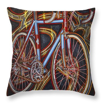 Swallow Bespoke Bicycle Throw Pillow