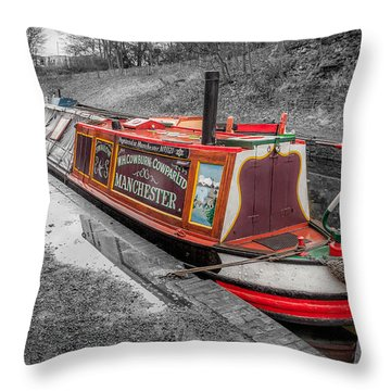 Swallow Canal Boat Throw Pillow