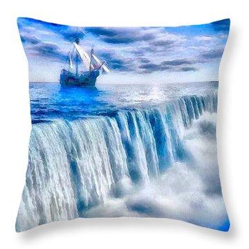 Swallow Falls Throw Pillow