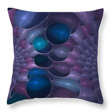 Swallow The Blue Pill Throw Pillow