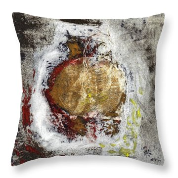 Swallowed Throw Pillow by Lesley Fletcher