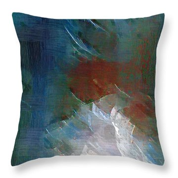 Swallowing Words Throw Pillow