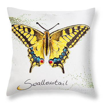 Swallowtail - Butterfly Throw Pillow