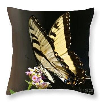 Swallowtail On Lantana Throw Pillow
