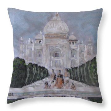 Swami Ji At The Taj Throw Pillow
