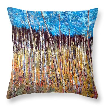Swamp - Chamcook Nb Throw Pillow