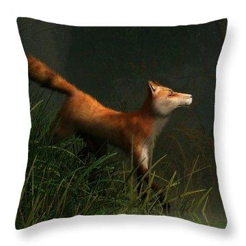 Swamp Fox Detail Throw Pillow by Daniel Eskridge