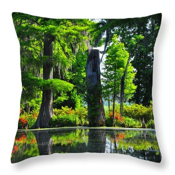 Swamp In Bloom Throw Pillow