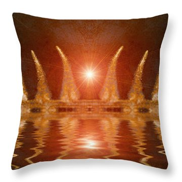 Swamp King Throw Pillow by WB Johnston