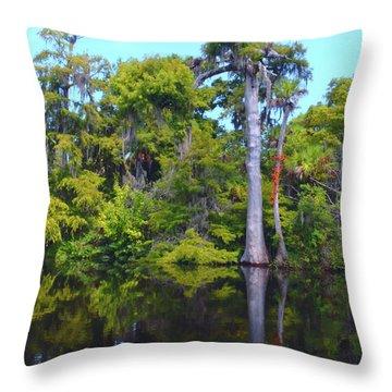 Swamp Land Throw Pillow
