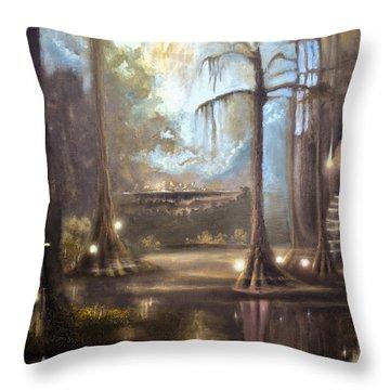 Swamp Life Throw Pillow