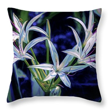 Throw Pillow featuring the photograph Swamp Lilies by Steven Sparks