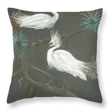 Swampbirds Throw Pillow