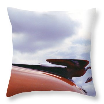 Swan Hood Ornament Throw Pillow