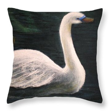Swan I Throw Pillow
