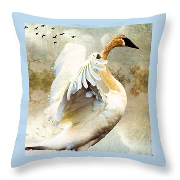 Swan Sense Throw Pillow
