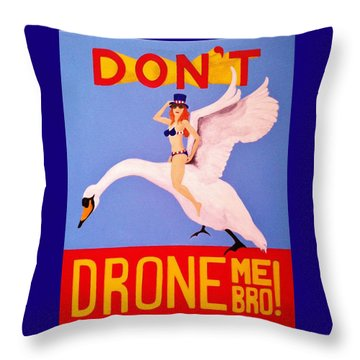 Throw Pillow featuring the painting Swan Song by Rand Swift