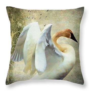 Swan - Summer Home Throw Pillow