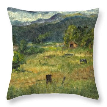 Swan Valley Residents Throw Pillow