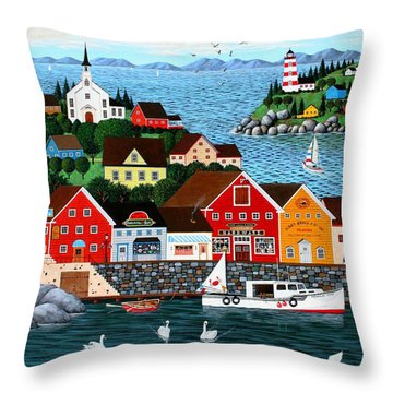 Swan's Cove Throw Pillow