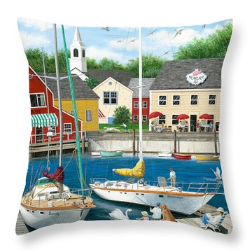 Swans Haven Throw Pillow