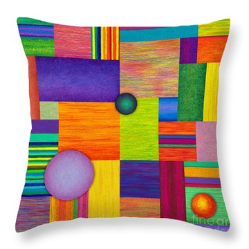 Swatches Throw Pillow by David K Small