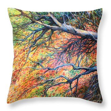 Sway Dancing Trees Throw Pillow