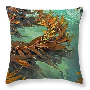Swaying Seaweed Throw Pillow by Susan Wiedmann