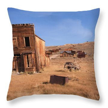 Swazey Hotel Bodie Ghost Town Throw Pillow
