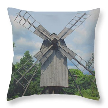 Swedish Old Mill Throw Pillow by Sergey Lukashin