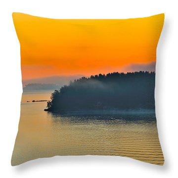 Swedish Sunrise Throw Pillow